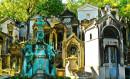 Paris - Les jardins du Palais Royal et le Cimetière du Père Lachaise